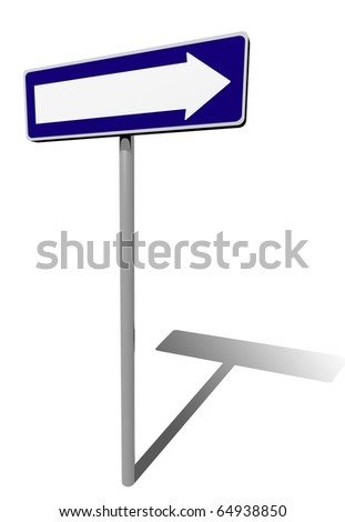 traffic sign direction - stock photo