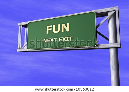 Traffic Sign - Fun - stock photo