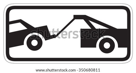 Traffic sign - no parking, tow away zone sign - stock photo