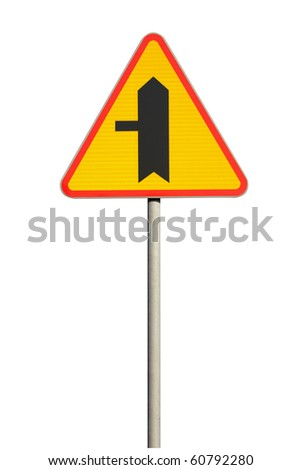 Traffic sign - priority traffic sign - stock photo