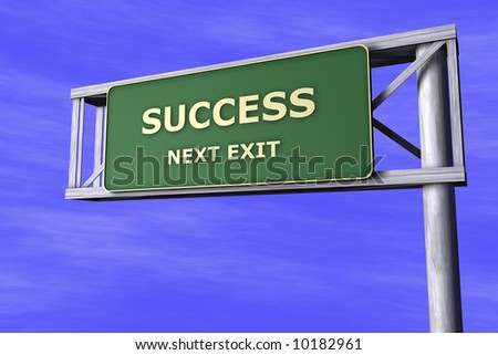 Traffic Sign - Success - stock photo