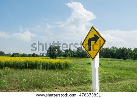 Traffic sign with sky background