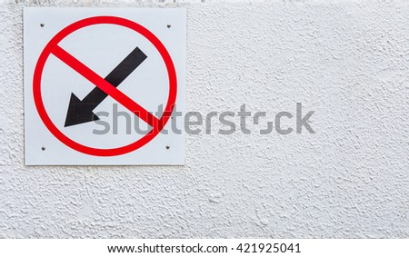 Traffic signs - stock photo