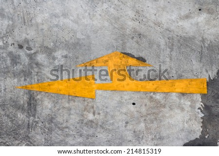traffic signs strategy and right Turn - stock photo