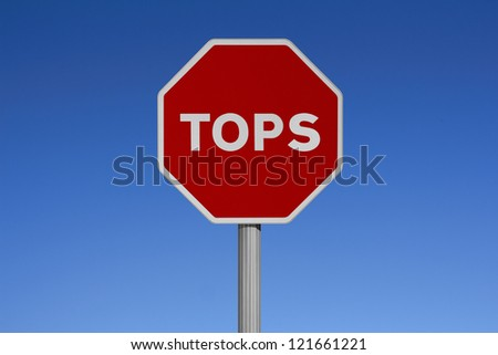 Traffic signs with sky background-TOPS