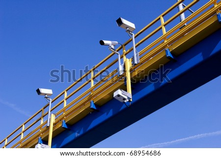 Traffic surveillance - stock photo
