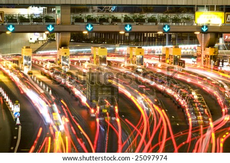 Traffic Through Downtown in HongKong