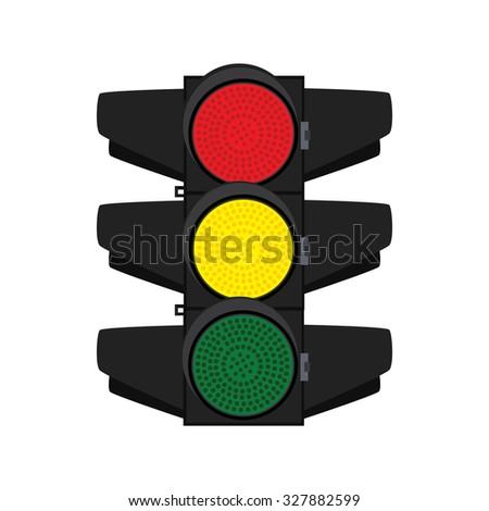 Traffic, traffic signs, traffic signal, traffic light isolated - stock photo