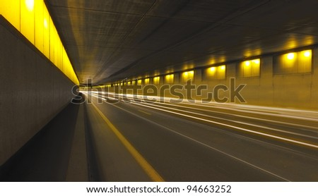 Traffic Tunnel Paris - stock photo