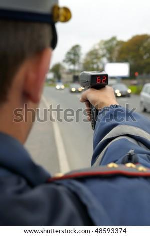 Traffic under surveillance. - stock photo