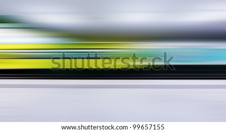 Traffic with high dynamic motion blur speed on train station - stock photo