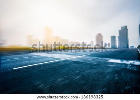 traffice of city - stock photo