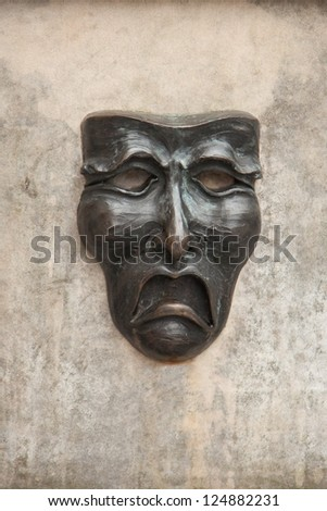 Tragedy Theatrical Mask - stock photo