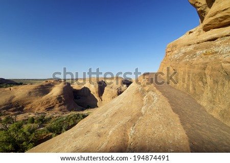 Trail in Arches National Park, Utah, Usa. - stock photo