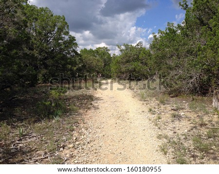 Trail in Dinosaur Valley State Park, Texas - stock photo