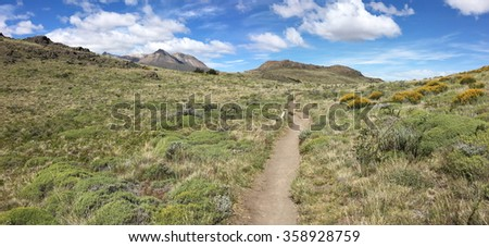 Trail in Los Glaciares National Park, Argentina - stock photo
