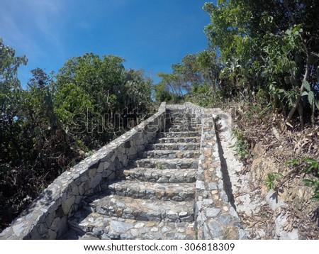 trail in Park of view point in Pattaya city, Thailand - stock photo
