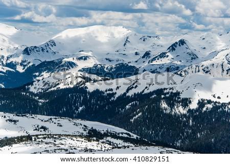 Trail Ridge Road Snow 2 - stock photo