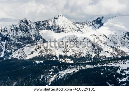 Trail Ridge Road Snow 1 - stock photo