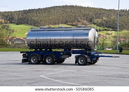 trailer to carry liquids - stock photo