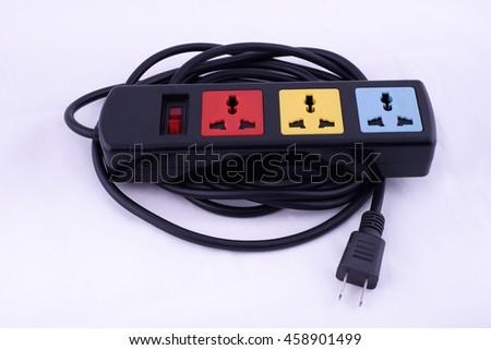 Trailer wiring plugs - stock photo