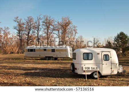Trailers for Sale - stock photo