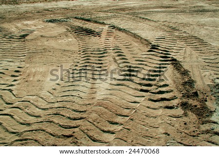 Trails in dust - stock photo