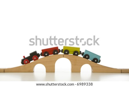 train and color - stock photo