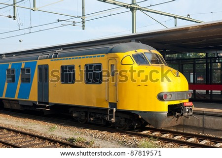 Train at a station - stock photo
