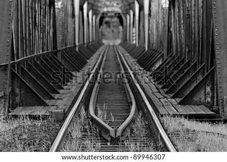 Train bridge - stock photo