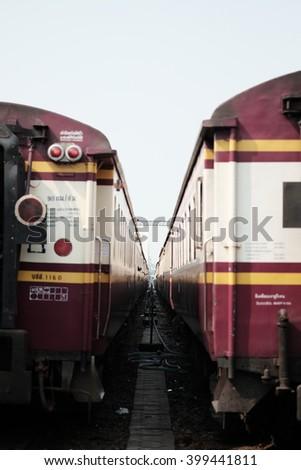 Train cargo - stock photo