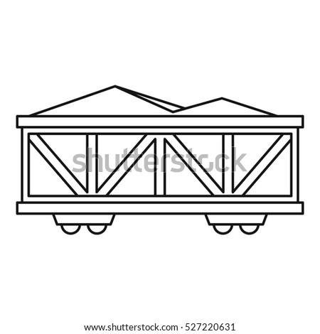 Train cargo wagon icon. Outline illustration of cargo wagon  icon for web design