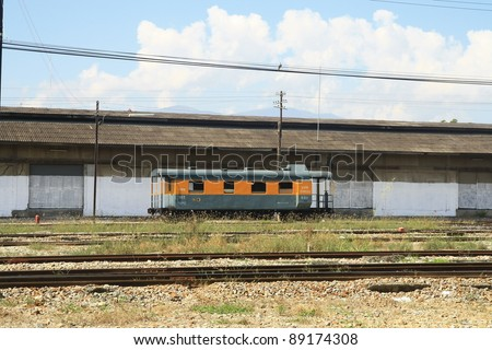 Train container in Thailand - stock photo
