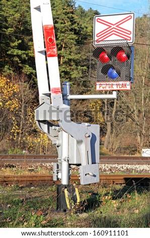 Train crossing, Slovakia - stock photo
