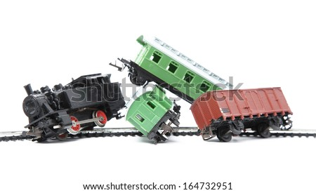 Train Wreck Clip Art Train derailment - stock photo