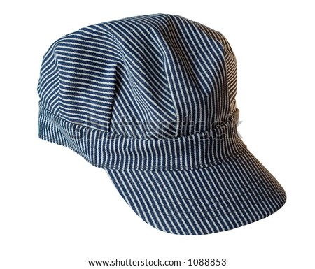Train Engineer's Hat - isolated, clipping path included with file.