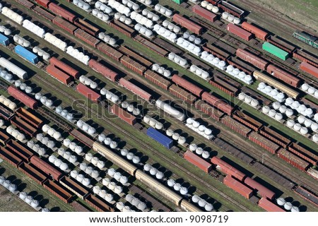 train freightliners - stock photo