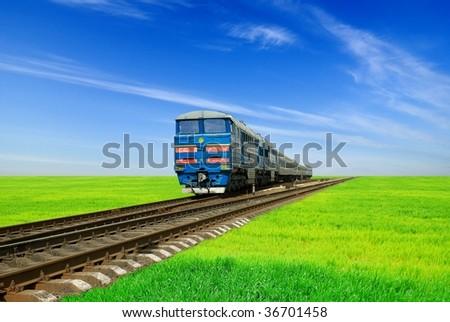 train from far - stock photo