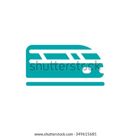 Train icon. Transportation icon. Concept flat style design illus - stock photo