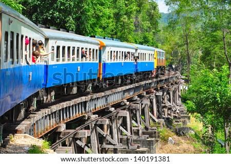 Train in thailand - stock photo