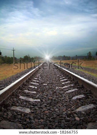 Train light on a field railroad