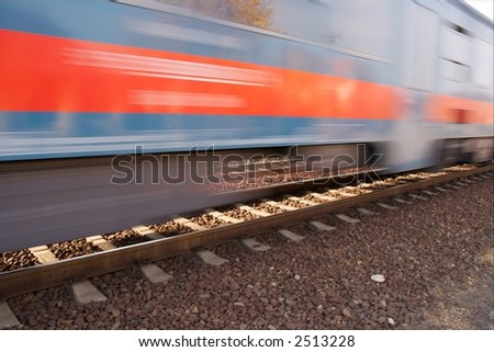 Train motion blur - stock photo