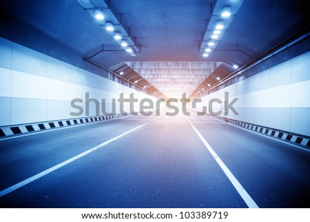 Train moving in Tunnel -Abstract View