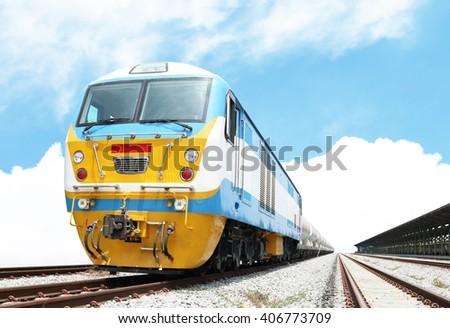 Train Oil Tank fuel - stock photo