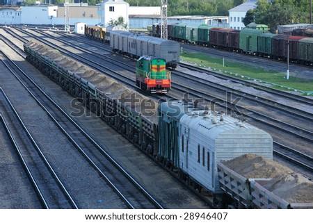 train railroad - stock photo