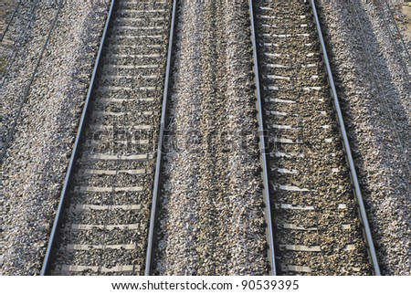 Train railroads. Electrified infrastructure for travel and transport. - stock photo