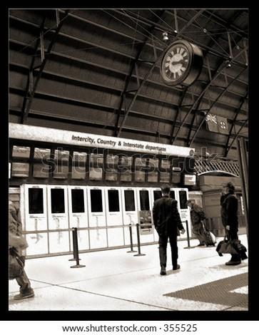 Train station - stock photo