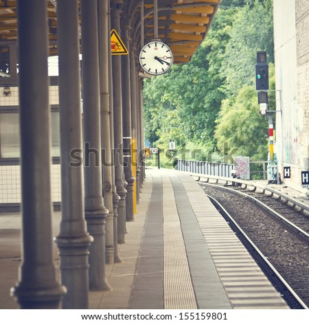 Train station background  - stock photo