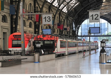 Train Station Estacio de Francia in Barcelona, Spain. - stock photo