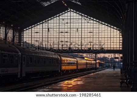 Train station in Budapest, Hungary - stock photo